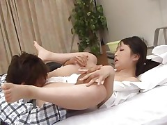 Pretty little nurse Ichika is at work. She has a normal day of work until she founds this guy jerking. The patient sees her and immediately grabs her sexy body and goes on top of her. She struggles at the begging but soon founds out that she likes it a lot. Some pussy rubbing was all she needed to spread her thighs