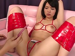 Asian cutie from this action knows what's what in bounding